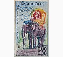 1958 Laos Elephant Stamp Unisex T-Shirt
