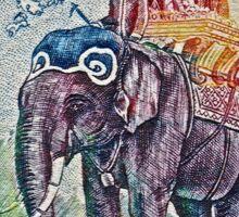1958 Laos Elephant Stamp Sticker