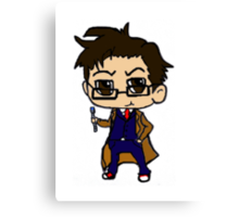 Chibi Tenth Doctor Canvas Print