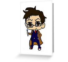 Chibi Tenth Doctor Greeting Card