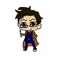 Chibi Tenth Doctor Photographic Print