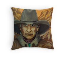 Charlie Blue Eyes, Pinkerton Tracker Throw Pillow