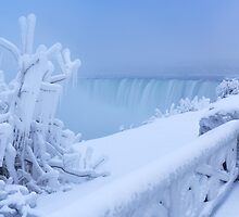 Covered with snow and ice Niagara Falls art photo print by ArtNudePhotos