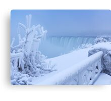 Covered with snow and ice Niagara Falls art photo print Canvas Print