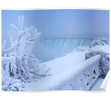 Covered with snow and ice Niagara Falls art photo print Poster