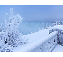Covered with snow and ice Niagara Falls art photo print Photographic Print