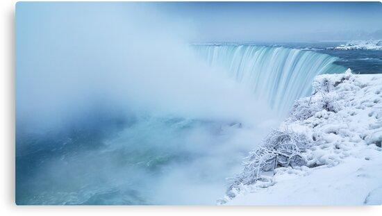 Niagara Falls in Winter Panorama art photo print by ArtNudePhotos