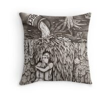 Beer Falls Throw Pillow