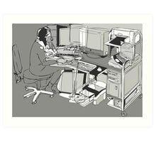 COMPUTER OFFICE WORKER Art Print
