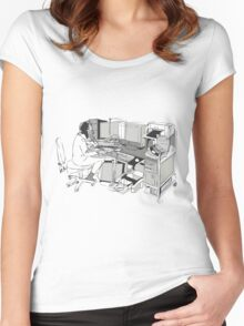 COMPUTER OFFICE WORKER Women's Fitted Scoop T-Shirt