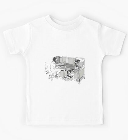 COMPUTER OFFICE WORKER Kids Tee