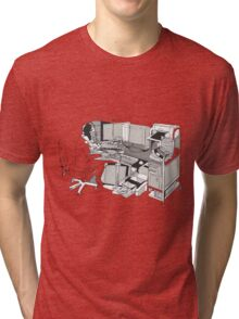 COMPUTER OFFICE WORKER Tri-blend T-Shirt