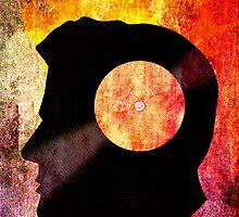 Burning with a Vinyl Record! Music DJ T Shirt and Prints by Denis Marsili - DDTK
