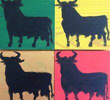 Four square Bulls by Roger Cummiskey