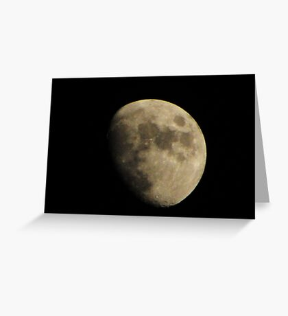Not quite a full moon Greeting Card