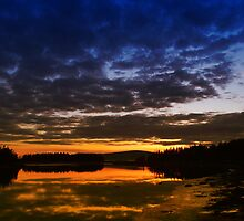 Sunset over Pond Cove, Schoodic Peninsula  by WHYankee