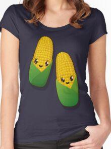Kawaii corn Women's Fitted Scoop T-Shirt