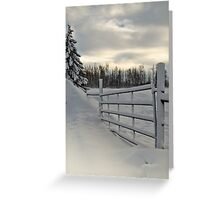 Winter Gateway Greeting Card