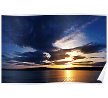 Sunset over Cadillac Mountain, Acadia National Park Poster