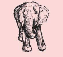 Elephant Sketch (Dark) Baby Tee