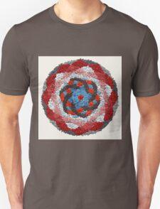 Healing Manadala - Red and Blue Tones T-Shirt