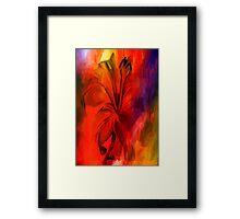 sunset and vine Framed Print