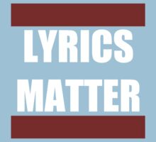LYRICS MATTER One Piece - Short Sleeve