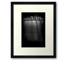 Jett Black Framed Print