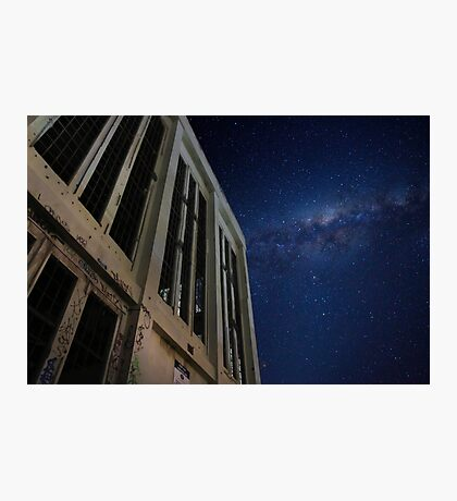 Abandoned power station in the dark of night Photographic Print