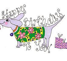 sausage birthday card by ACDesignsGB