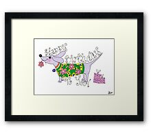 sausage birthday card Framed Print