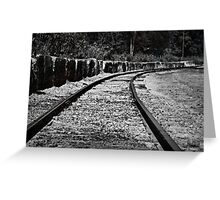 Following the train tracks Greeting Card