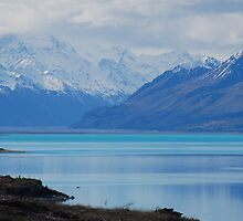 Lake near Mt Cook, NZ close up by Catherine Davis