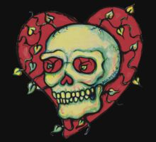 Skeleton Heart with Vines by Heather Calderon