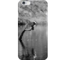 Black and white bird iPhone Case/Skin