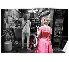 Girl in Pink Poster