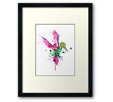 Hummingbird Skeleton Watercolor/Pen&Ink Framed Print