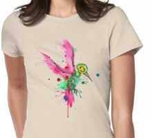 Hummingbird Skeleton Watercolor/Pen&Ink Womens Fitted T-Shirt