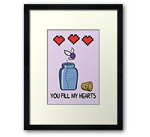 You Fill My Hearts Framed Print