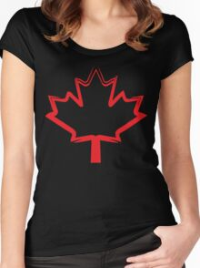 canadian maple leaf Women's Fitted Scoop T-Shirt