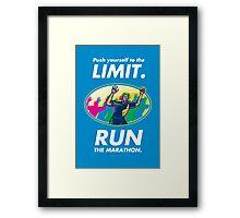 Marathon Runner Push Limits Poster Framed Print