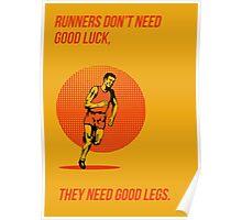 Runner Running Marathon Poster Poster