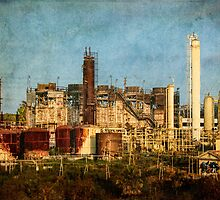 Abandoned refinery by Celeste Mookherjee