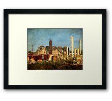 Abandoned refinery Framed Print