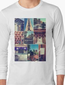 Kawasaki Daishi Buddhist Temple Japan Vintage Collage Long Sleeve T-Shirt