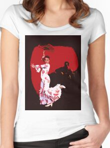 Flamenco Dancer and Guitarist Women's Fitted Scoop T-Shirt