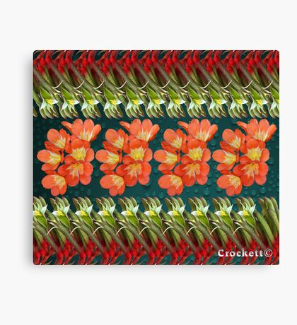 Beautiful Flowers Calendar 3 August Canvas Print