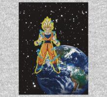dragaonball z Goku Charging Kids Clothes