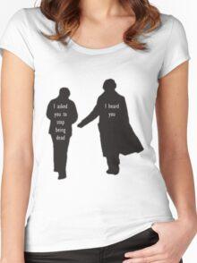 Sherlock & John Women's Fitted Scoop T-Shirt