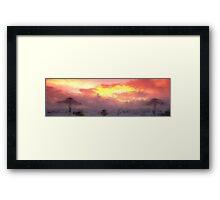 SUN STORMY BEACH Framed Print